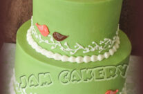 Vintage Birdie Baby Shower cake