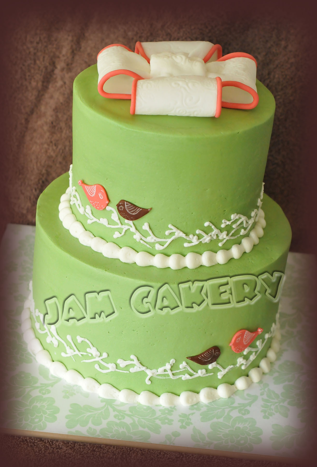 vintage birdie baby shower cake j a m cakery