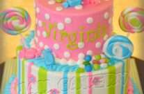 Candy birthday cake