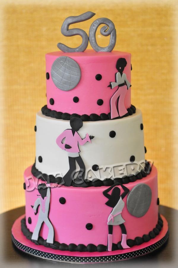 Disco Birthday Cake | J.A.M. Cakery