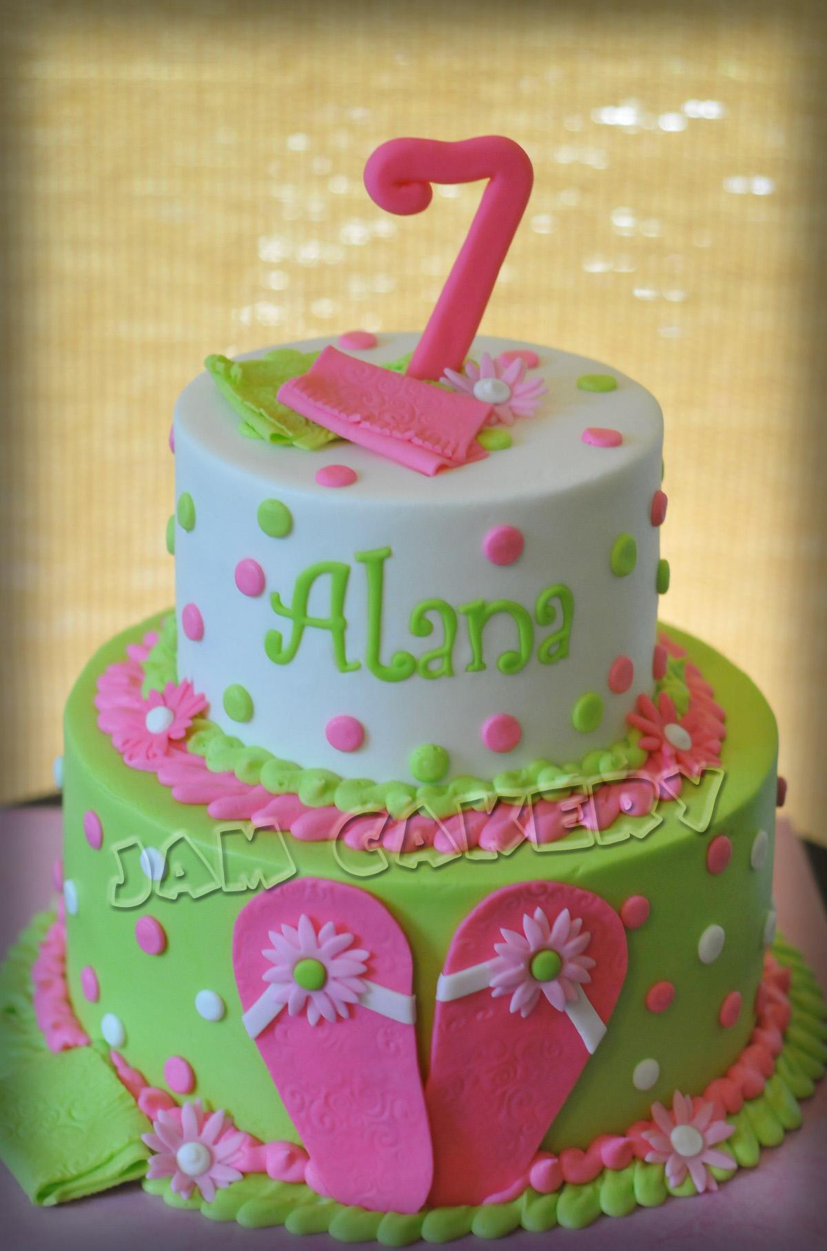 Admirable Summer Flip Flops Birthday Cake J A M Cakery Birthday Cards Printable Inklcafe Filternl