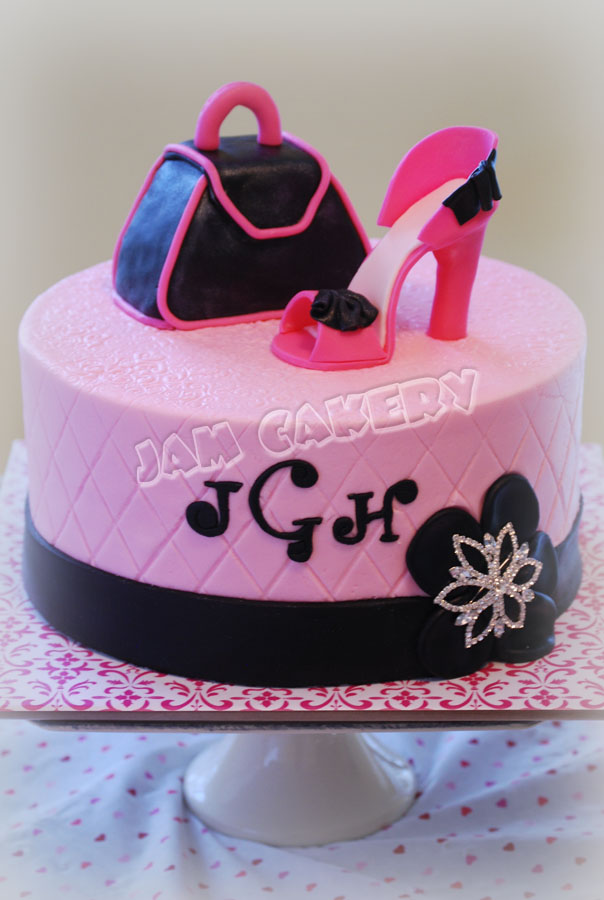 Magnificent Shoe And Purse Birthday Cake J A M Cakery Funny Birthday Cards Online Necthendildamsfinfo