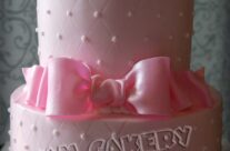 Pink Bear Baby Shower Cake