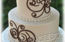 Chocolate Swirl Wedding Cake