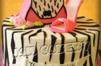 Zebra purse and shoe birthday cake