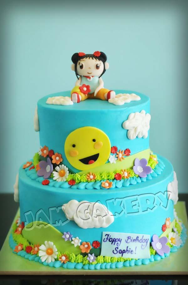 Kai Lan Birthday Cake Jam Cakery