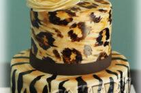 Animal Print fondant cake