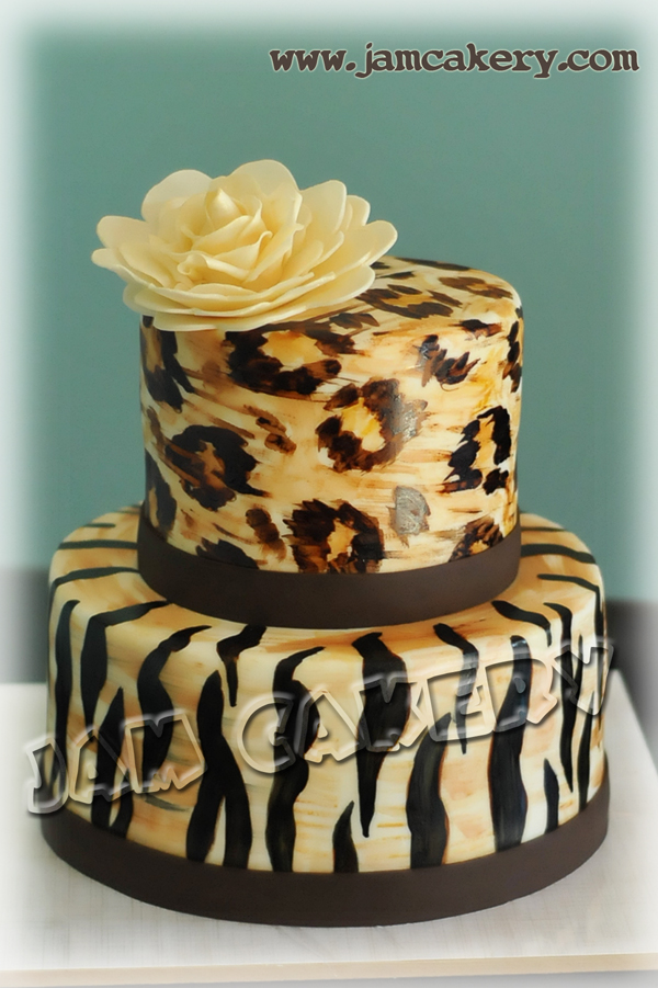Print Pictures For Cake : Animal Print fondant cake - J.A.M. Cakery