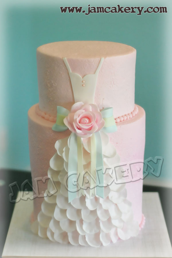 Wedding Dress Bridal Shower cake  J.A.M. Cakery