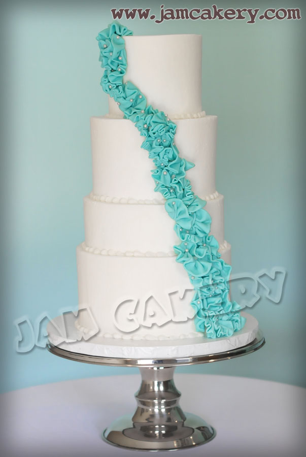 teal and white wedding cake white and teal wedding cake j a m cakery 20773
