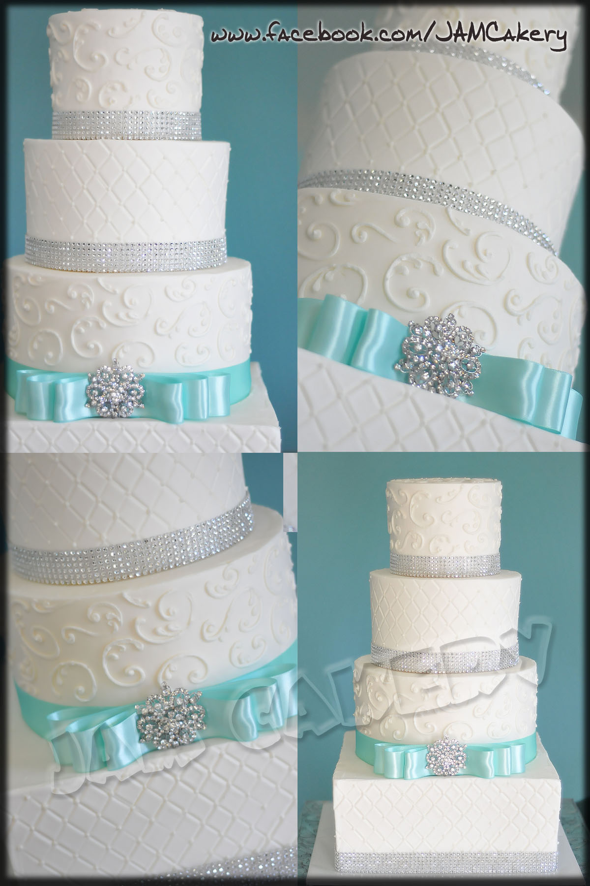 Turquoise and Sparkle J A M Cakery