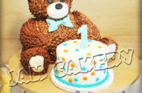 Bear Cake for guests/smash cake for birthday boy!