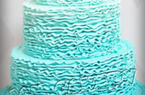Ombre Ruffles Wedding Cake