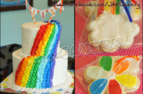 Rainbow Party Cake and Cookie Favors