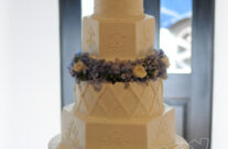 Alternating cake shapes make even classic cake look more updated!